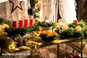 Kerzen am Adventsmarkt in Oberstocken