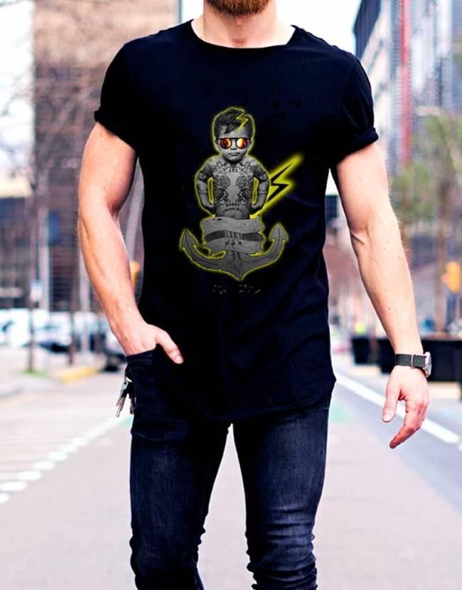 T-shirt Homme Bébé Tatoué, T-shirt Homme Original, T-shirt Raphael Setiano