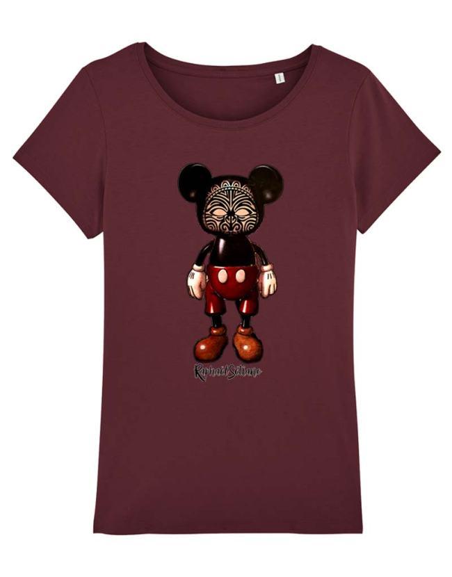 T-Shirt Femme Mickey Tatoué, T-shirt Femme, T-Shirt Raphael Setiano, T-shirt créateur