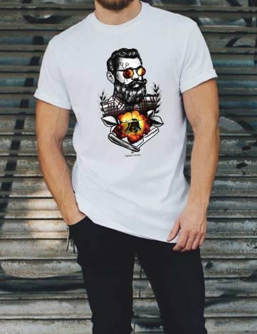 T-Shirt Homme Hipster Marin, T-Shirt Créateur, T-Shirt Raphael Setiano.