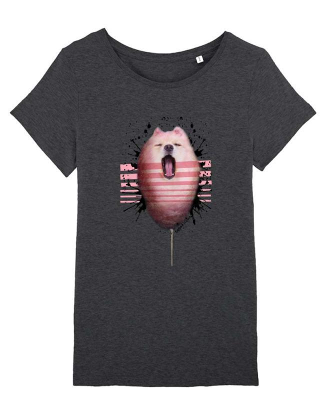 Tee-Shirt Femme Barbe à Papa, T-Shirt Barbe à papa Adulte, T-Shirt Femme pas Cher.