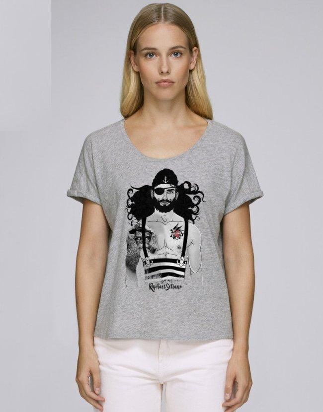 Vêtement Pirate Femme, Top Hipster Barbu, Boutique Pirate Des Caraïbes.