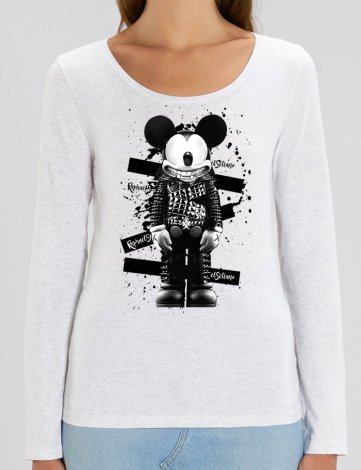 T-Shirt Manches Longues Femme Mickey, T-Shirt Femme pas Cher, T-shirt Raphael Setiano.