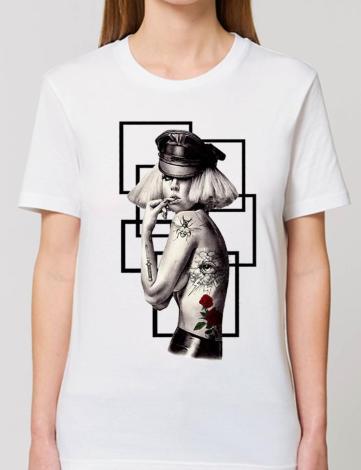 Tee Shirt Oversize Lady Gaga, T-Shirt Créateur, T-Shirt Raphael Setiano.