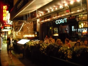 The fancy, hip Coast Restaurant in Yaletown.