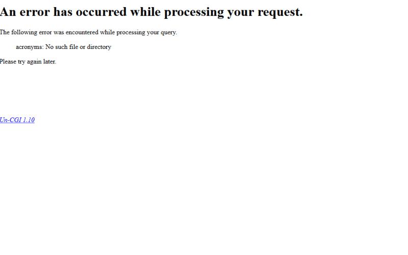 Internet Acronym Server API