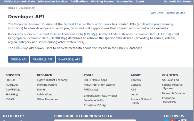 St. Louis FRED API