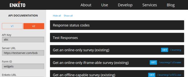 Enketo API