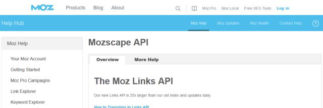 Mozscape API
