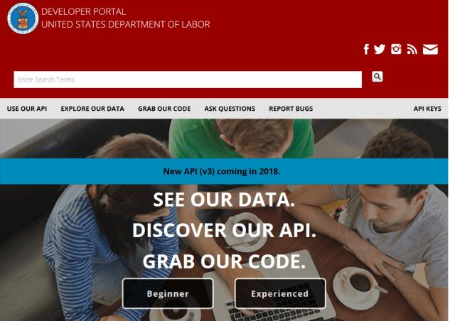 U.S. Department of Labor API