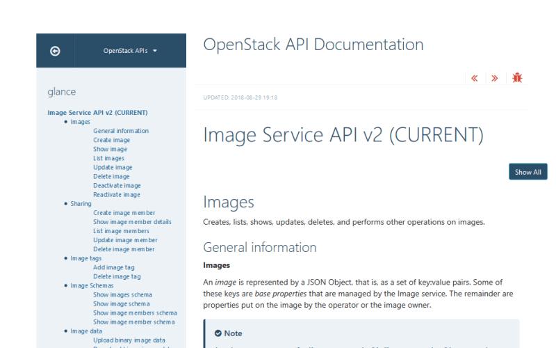 OpenStack Image Service API