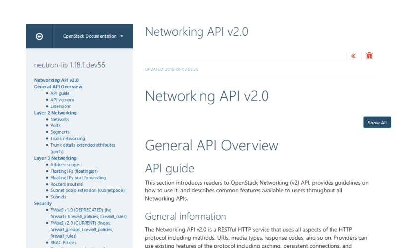 OpenStack Networking API