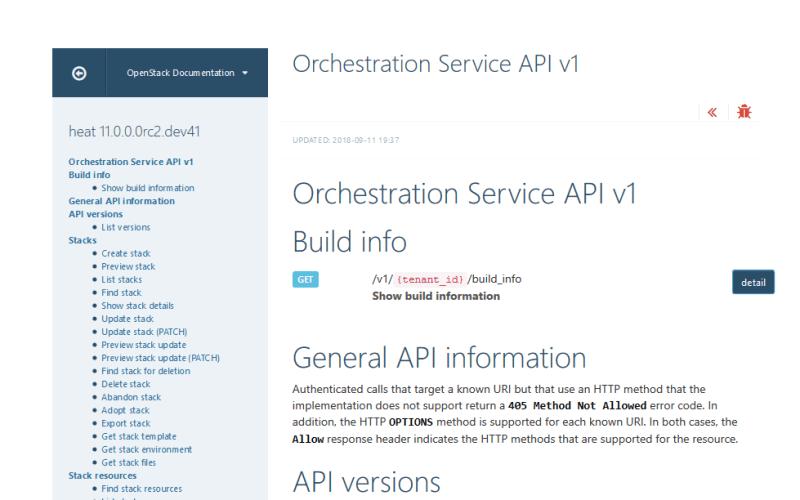 OpenStack Orchestration Service API