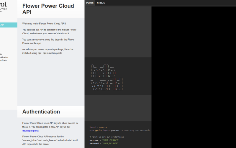 Parrot Flower Power Cloud API