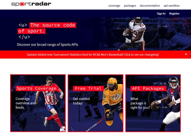 Sportradar API
