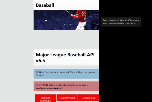 Sportradar Global Baseball API