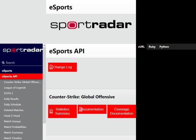 Sportradar Esports API
