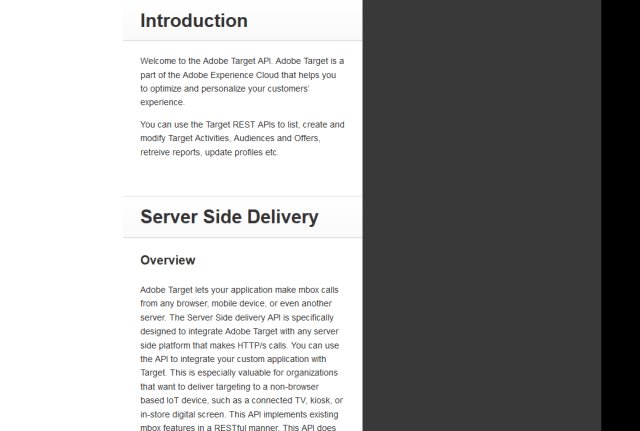 Adobe Target Profiles API