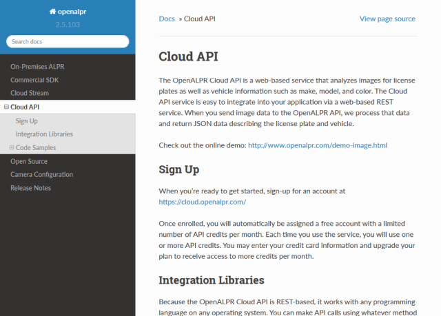 Openalpr API