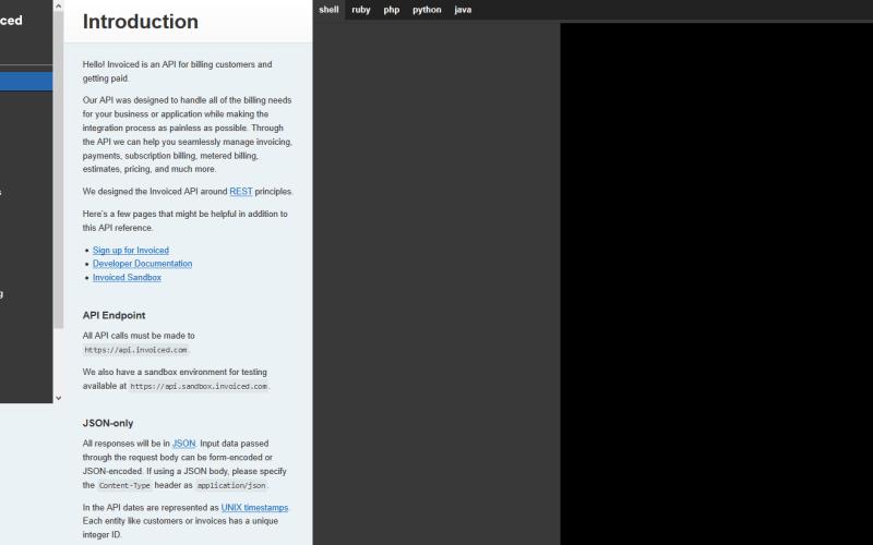 Invoiced API