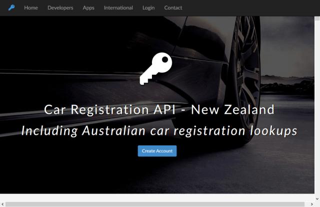 New Zealand Car Registration Number Lookup API