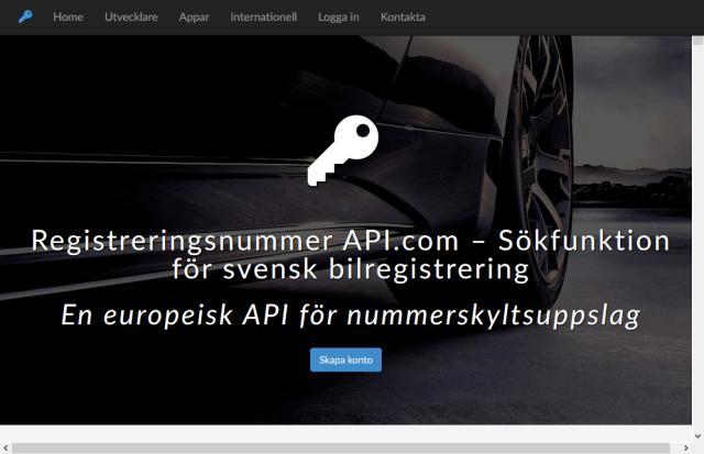 Swedish Car Registration Search API