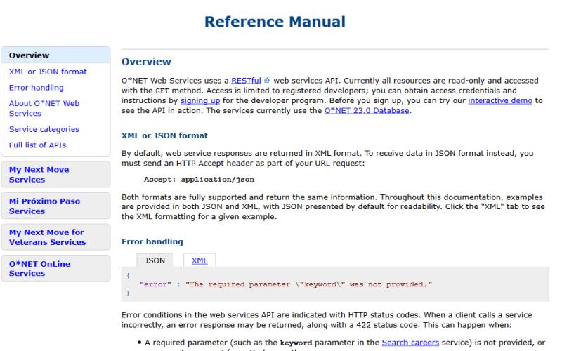 USA.gov American Job Center Resource API