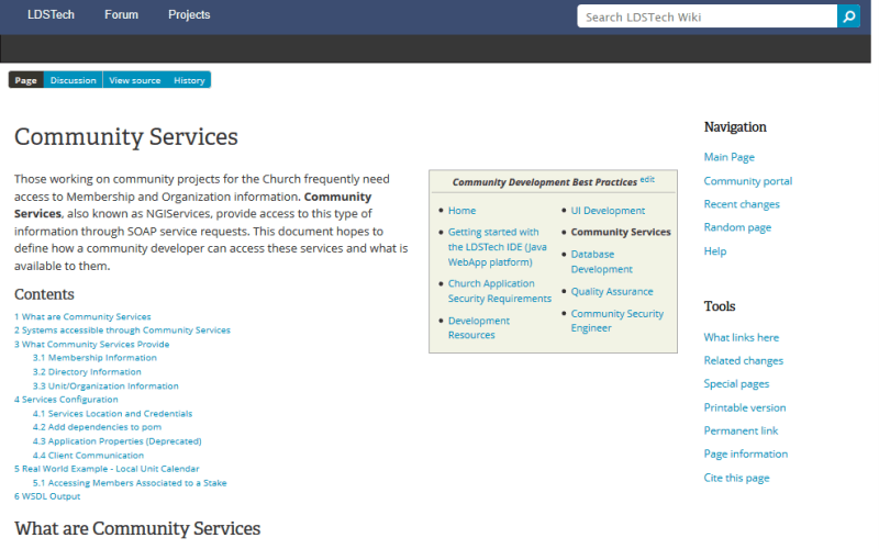 LDSTech Community Services API