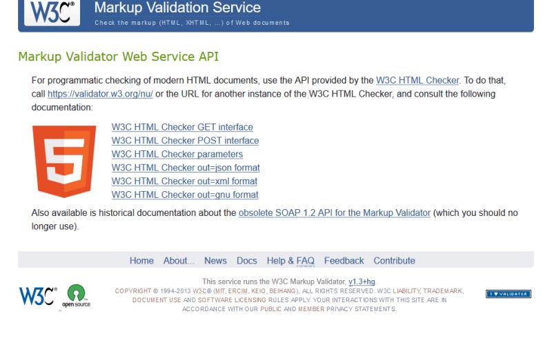 W3C Markup Validator API