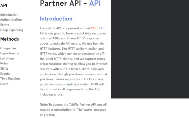 7shifts Partner API API