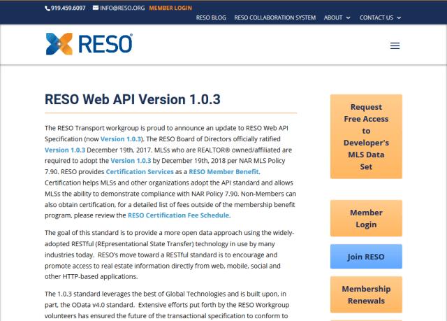 Reso Rets Web API