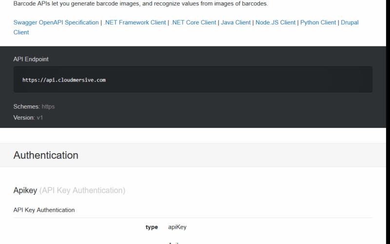 Cloudmersive Barcode API