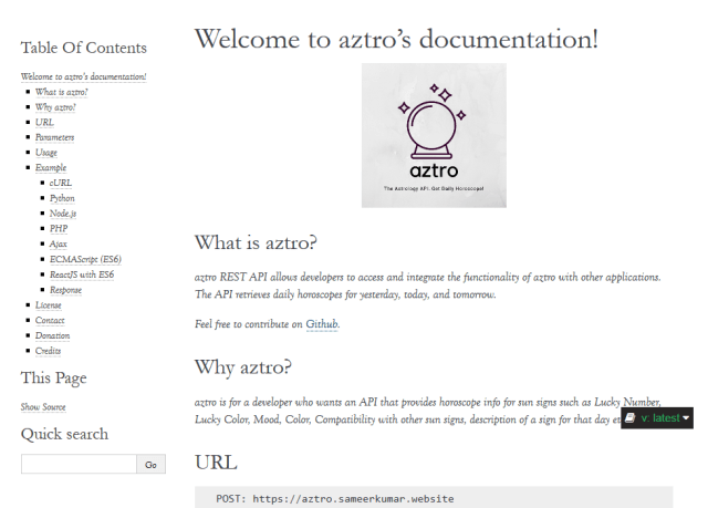 Aztro API