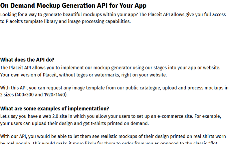 Placeit API