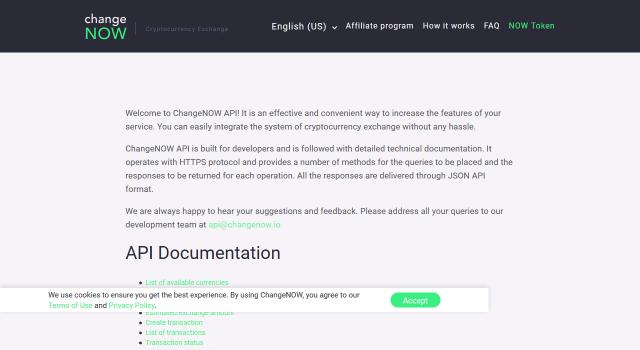 Changenow Exchanger API