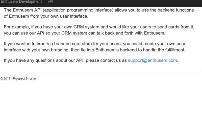 Enthusem API