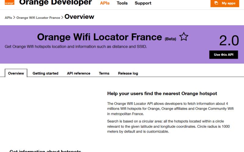 Orange Wifi Locator API