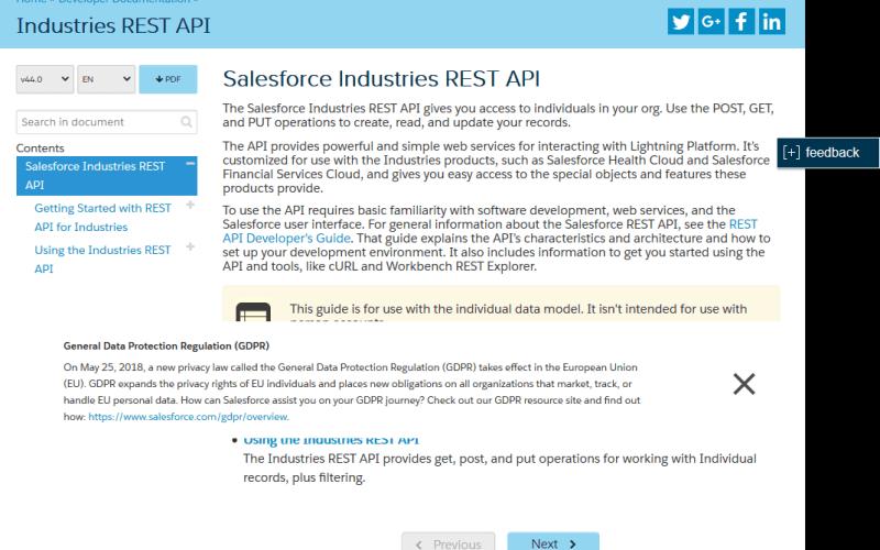 Salesforce Industries REST API