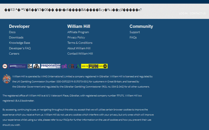 William Hill Locations API