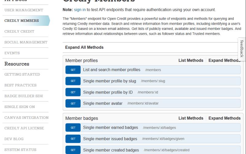 Credly Members API