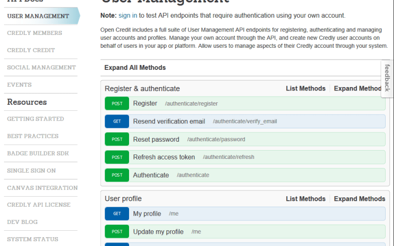 Credly User Management API
