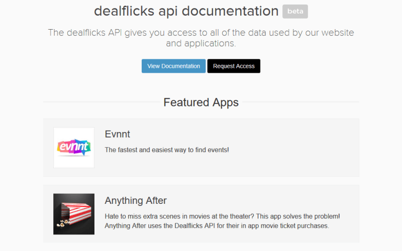 Dealflicks API