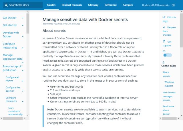 Docker Secrets API