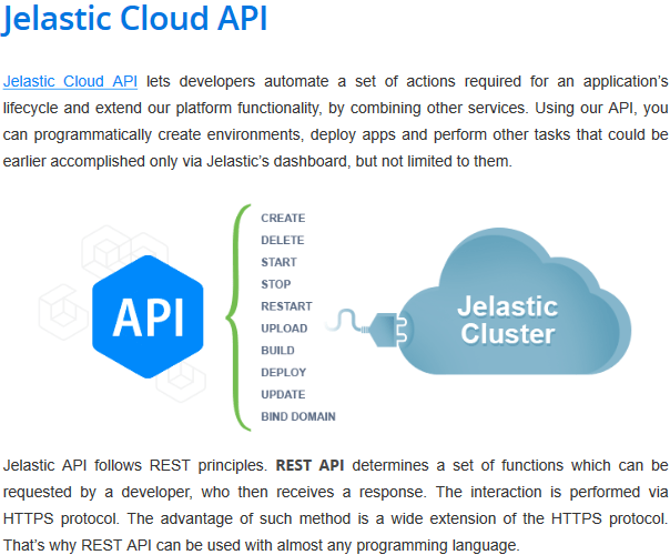 Jelastic Cloud API