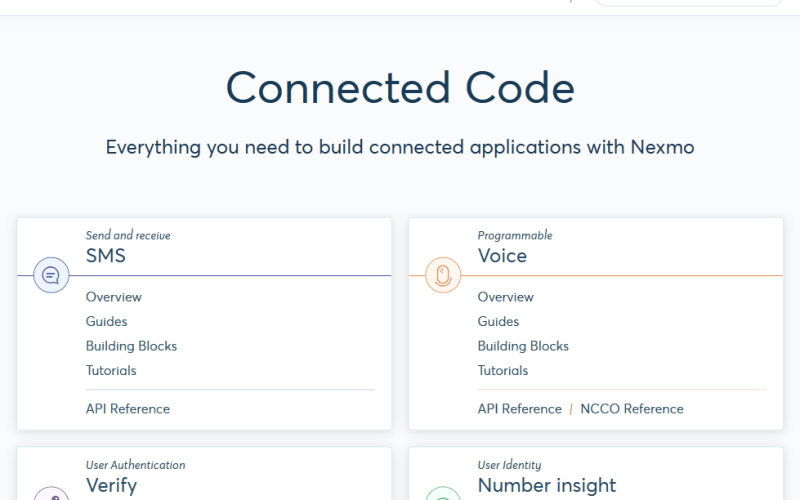 Nexmo Developer API