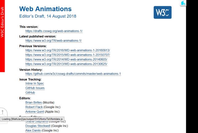 W3C Web Animations API