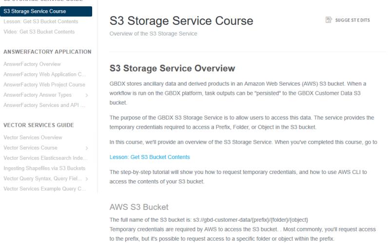 DigitalGlobe GBDX S3 Storage API