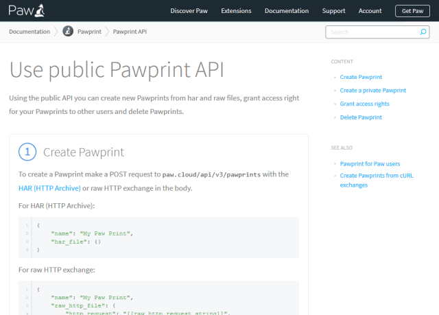 Pawprint API