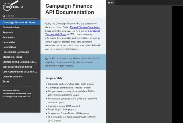 Propublica Campaign Finance API