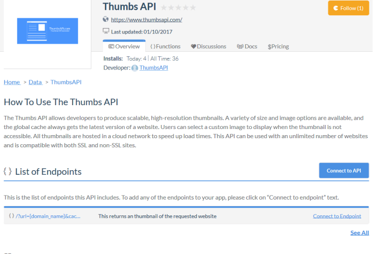 Thumbs API